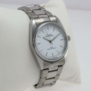CAPITAL Unisex Watch, quartz, elegant and clearly legible dial, Stainless steel