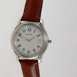 MONDIA unisex watch - Swiss quartz - 316L steel case, leather strap