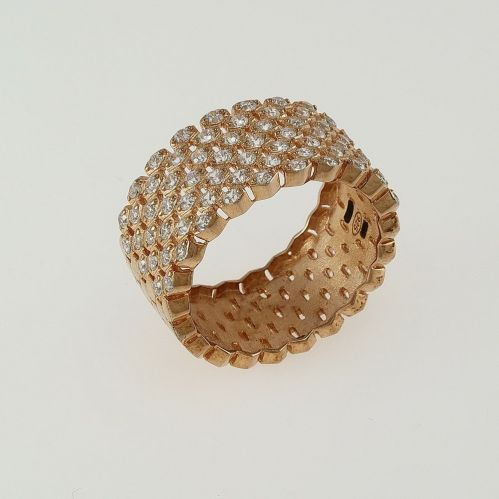 FOGI band ring by Gianni Carità - 925 Silver - Rose gold PVD