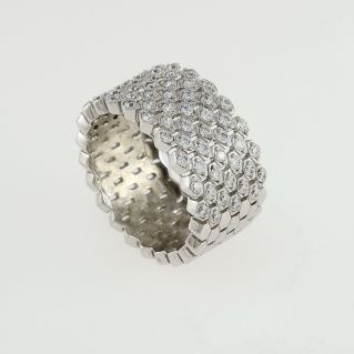 FOGI band ring by Gianni Carità - 925 silver - Rhodium treated