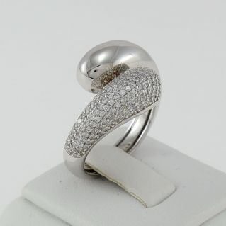 Ring contrarie FOGI by Gianni Carità - Silver 925 - Rhodium treated