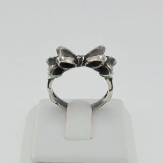 TROLLBEADS - Bow Ring - Silver - size 14