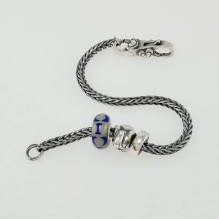 TROLLBEADS - Silver bracelet with THUN By Trollbeads beads
