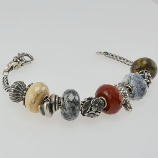 TROLLBEADS bracelet - Beads in natural stones can also be purchased one beads