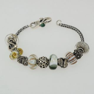 TROLLBEADS bracelet, Murano Glass Beads and Silver can be purchased one beads