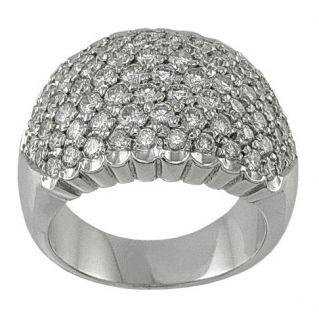 Ring mit Diamanten 2,12 Ct -18 kt Weißgold italienische Handarbeit von hohem Niveau