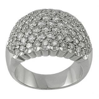 RING with 2,12 Ct Diamonds -18 kt White Gold- Italian handcrafted of high level