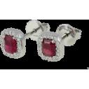 GIANNI CARITA' Rubies Earrings Ct 1.30 - Diamonds Ct 0.16 G/SI - 750 White Gold