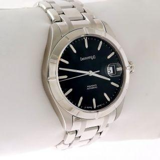 EBERHARD & Co men's watch, Aquadate - Sapphire glass, Steel bracelet - 41014 S