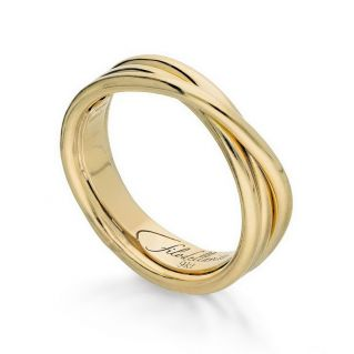 FILODELLAVITA ring, Classic Collection, 3 wires, 9kt Yellow Gold