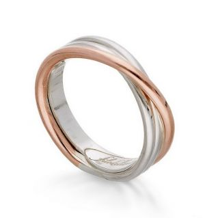 FILODELLAVITA Ring, Classic Collection, 3 wires, 9kt Rose Gold and 925 Silver