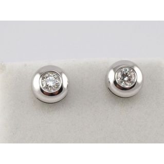EARRINGS Light point, 18 kt White Gold - Diamonds Ct 0.31