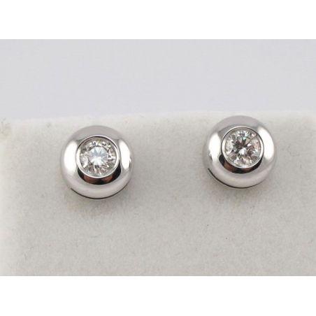 EARRINGS Light point, 18 kt White Gold - Diamonds Ct 0.31