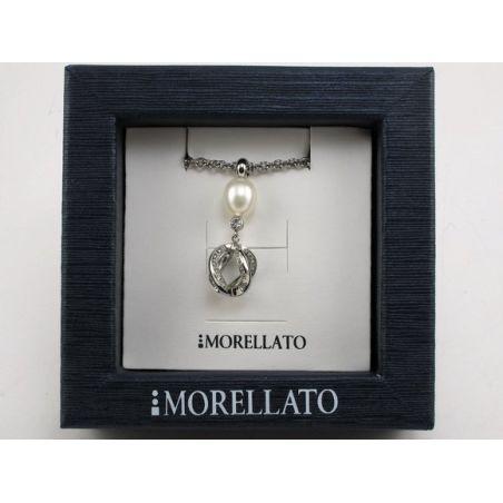 MORELLATO - Girocollo Acciaio Coll. TWIST - Perla naturale bianca