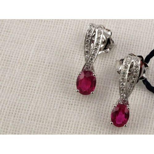 BLISS - Orecchini Rubino e Diamanti - Coll. EMMA