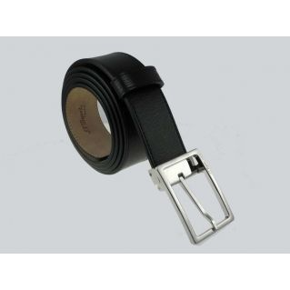 S.T. DUPONTLINE D BUSINESS Belt - Smooth black leather