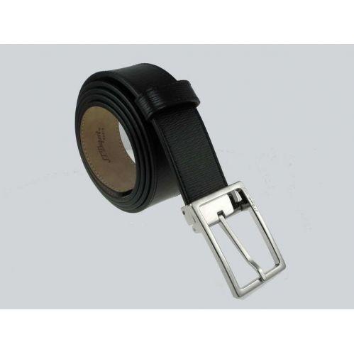 S.T. DUPONTLINE D BUSINESS Belt - Smooth black leather