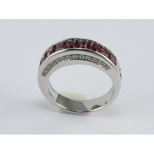Eternity Ring by 121 Centoventuno - Hydrothermal Quartz Amethyst color, Diamons
