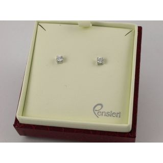 BOUCLES D'OREILLES MILUNA - Or blanc 18 kt avec Diamants
