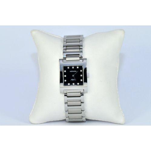 Orologio MONDIA Donna, Incastonati DIAMANTI Quadrante Nero - Swiss Made