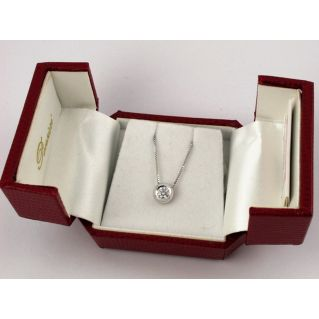 Necklace point light - Ct 0.25 Solitaire Diamond Color G-VS, 18 kt white gold
