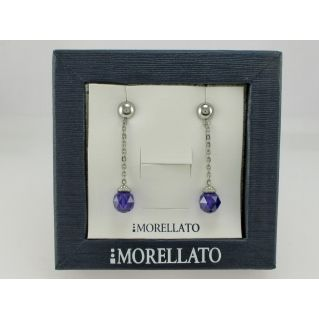 Earrings MORELLATO Coll. BIRMANIA - Cubik Zirconia color viola