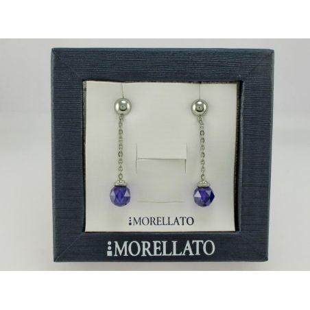 Earrings MORELLATO Coll. BIRMANIA - Cubik Zirconia color viola
