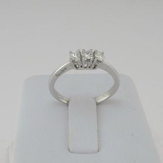 TRILOGY RING by GIANNI CARITA' - Ct 0,30 Diamonds - G/VVS2
