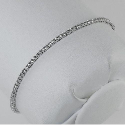 GIANNI CARITA' 'TENNIS' Bracelet - Diamonds ct 0.69 VS - White Gold 18 kt