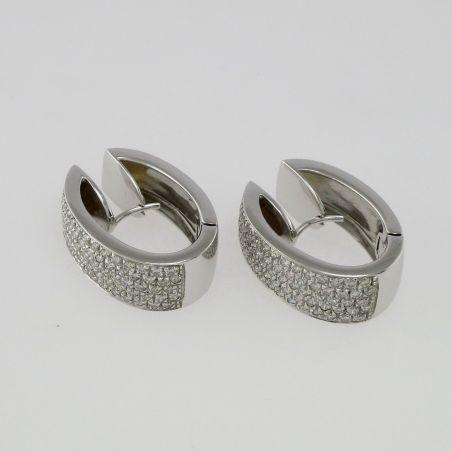 Lovely EARRINGS 18 kt White Gold - Diamonds Ct 1.22 H-VS