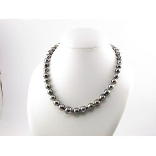 DAMIANI - MIKAWA - Bellissimo filo di Perle TAHITI naturali diametro 7,1 - 10,9