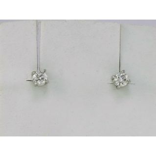 EARRINGS GIANNI CARITÀ Light point, 18 kt whitegold, Diamonds Ct 0.30 G-VVS
