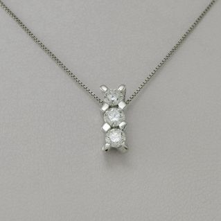 Trilogy Necklace GIANNI CARITA', 18 kt White Gold, Ct 0,45Diamonds G-VVS