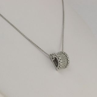 Pendant Necklace GIANNI CARITA' White Gold, Ct 0,18 DIAMOND G-VVS