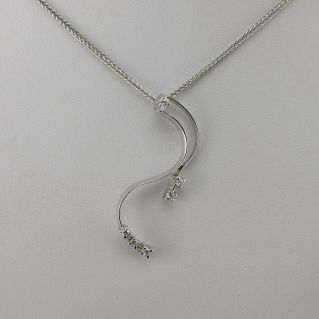 Pendant Necklace GIANNI CARITA' White Gold, Ct 0,10 DIAMOND G-VVS