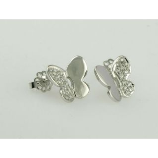 EARRINGS - 18 kt white gold - Diamonds 0,22 Ct - H-VVS