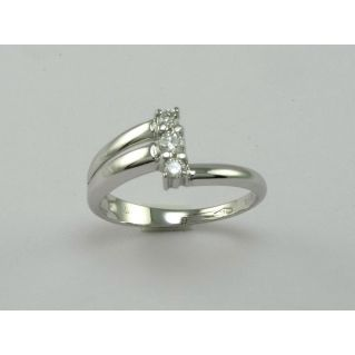 BAGUE TRILOGY par GIANNI CARITA' - FOGI Ligne - Ct 0,20 DIAMANTS - H/VS
