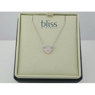 BLISS - Girocollo in Oro 9 kt - Cuore in Madreperla con Diamanti