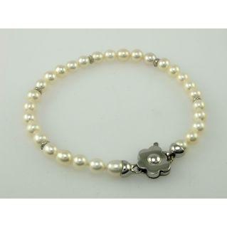 MIKAWA by DAMIANI – Bracciale perle coltivate giapponesi - fermezza Oro Bianco