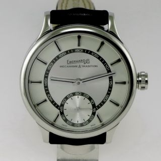 EBERHARD & CO TRAVERSETOLO - Cronograph - Steel case -Transparent Caseback