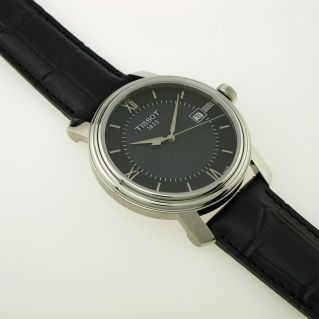 TISSOT Man Watch - BRIDGEPORT GENT model - leather strap - Swiss quartz