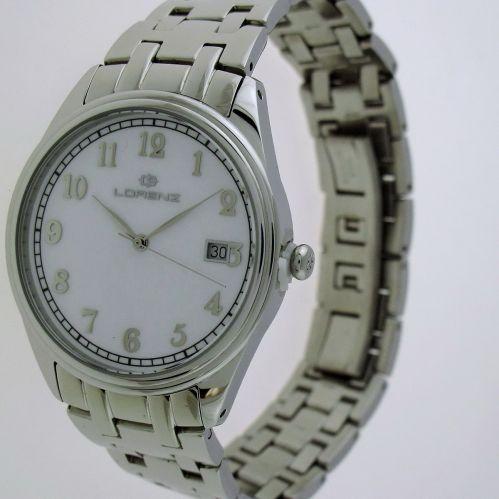 LORENZ WATCH quartz, classic, Diver 50 m - 316L stainless steel case and bracelet