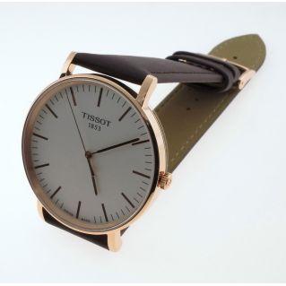 Uhr TISSOT EVERYTIME BIG GENT Quartz - PVD Rosegold, dunn 6 mm, Saphirglas