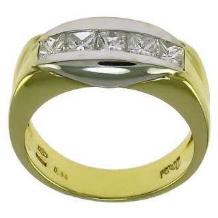 ETERNITY RING by DAMIANI - Ct 0.94 Diamonds H Color - Princess Cut