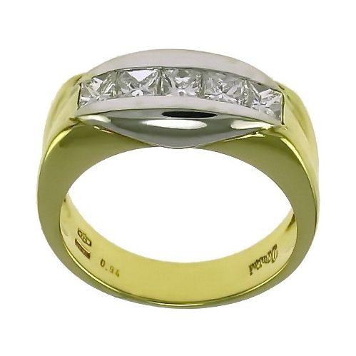 nuovo prodotto de0c2 4384e Bellissima Fedina - Veretta DAMIANI - oro giallo e bianco con Diamanti  Princess Ct 0,94