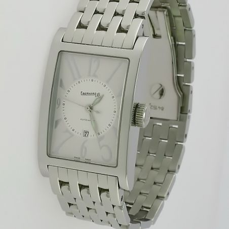 EBERHARD & CO LES COURBEES White Dial -Steel Bracelet -Swiss automatic movement