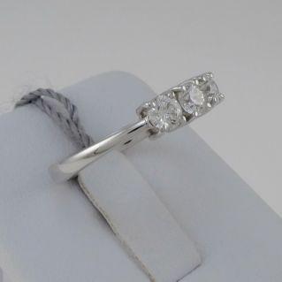 TRILOGY RING italian goldsmith's work handcrafted - Diamonds Ct 0,85 F/VS
